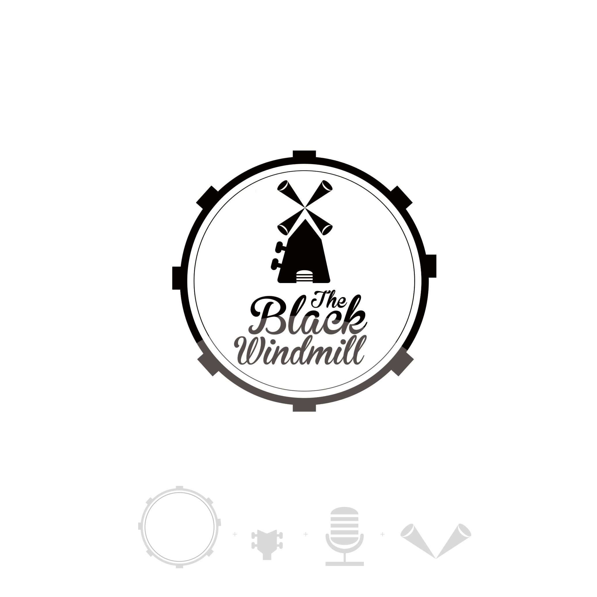 "Logo per ""The Black Windmill""Rock & Blues band"